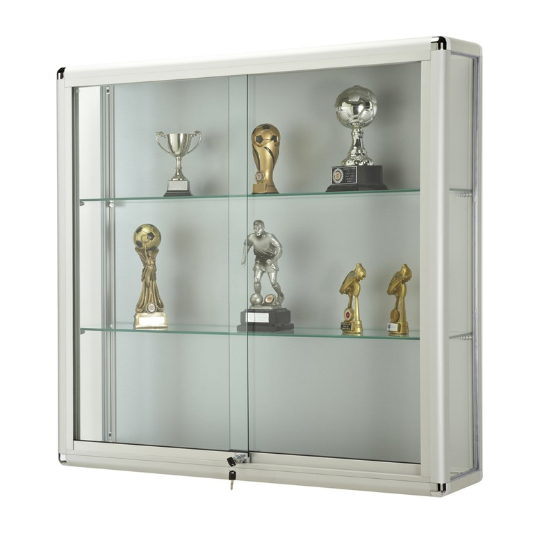 Glass Display Cabinet Wall Glass Showcase With Lockable Sliding