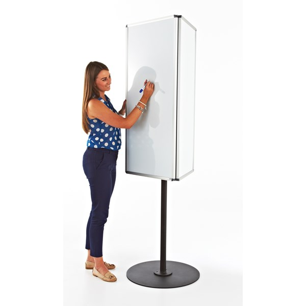 3 Sided Magnetic Whiteboard Call Centre Board
