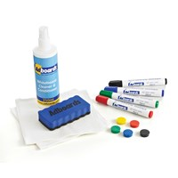 Adboards Magnetic Whiteboard Starter Kit