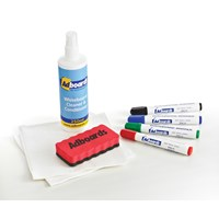 Adboards Whiteboard Starter Kit Non Magnetic