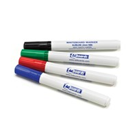 Adboards Slimline Dry-Wipe Whiteboard Pens Assorted 4 Colour