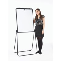 900x600 Excellence Flip Chart Easel Magenetic White Board Black