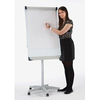 A1 Mobile Flip Chart Easel Magnetic White Board
