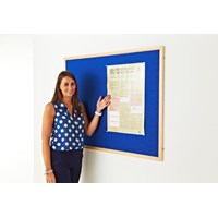 Light Oak MDF Wood Frame Noticeboard
