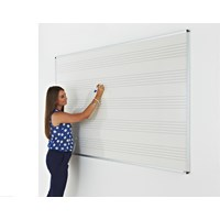 Music Line Vitreous Enamel Whiteboard